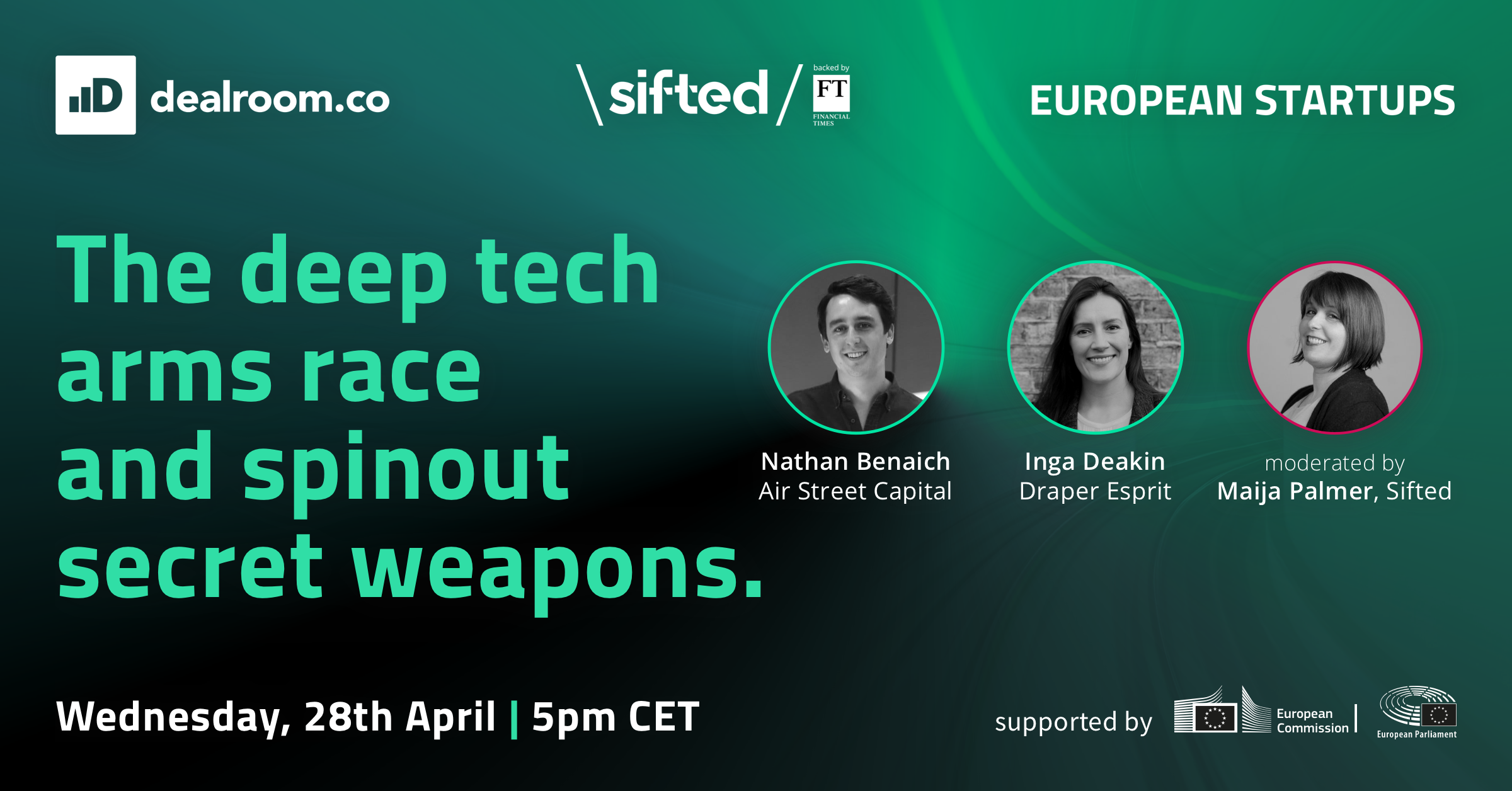 Dealroom & Sifted deep tech and university spintouts evert event