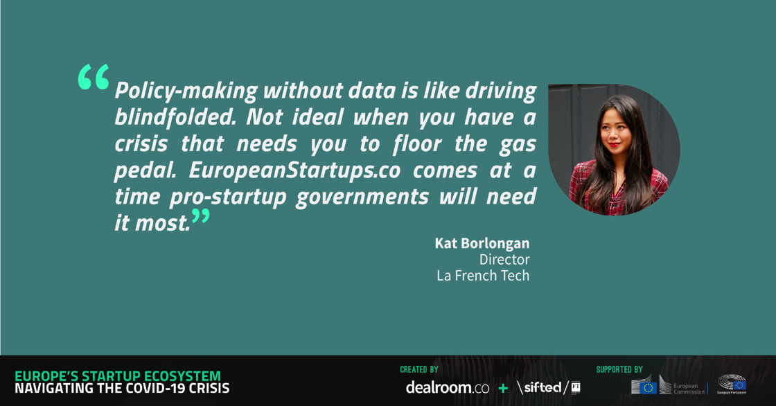 Quote from Kat Borlongan, Director of La French Tech, for European Startups report